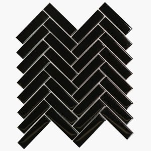 1×4 Herringbone Nu Black