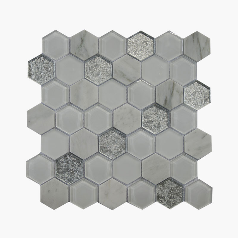 2″ Hexagon Silver Lake