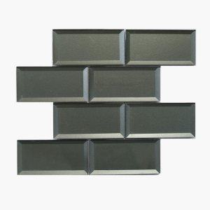 3×6 Bevel Metallic Silver Grey
