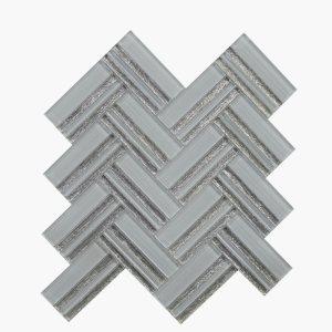 Austex Herringbone Superwhite+Silver