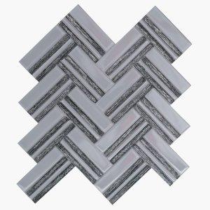 Austex Herringbone Black+Silver