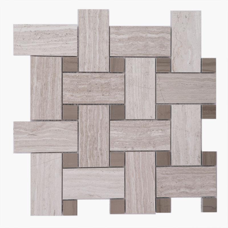 2×4 Basketweave Woodlight w/ Wood dark Dot