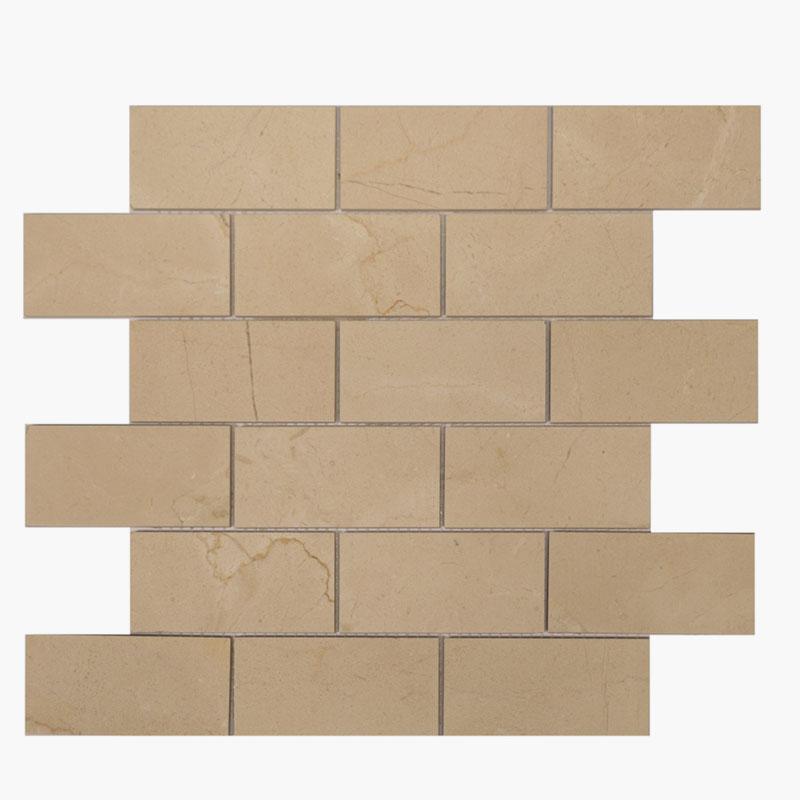 2×4 Brick Crema Marfil