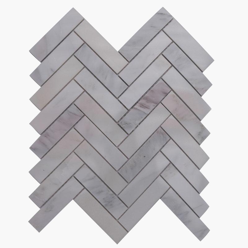 1×4 Herringbone O White