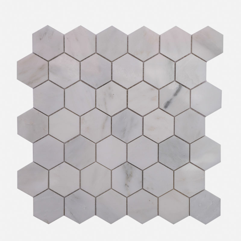 2″ Hexagon O White