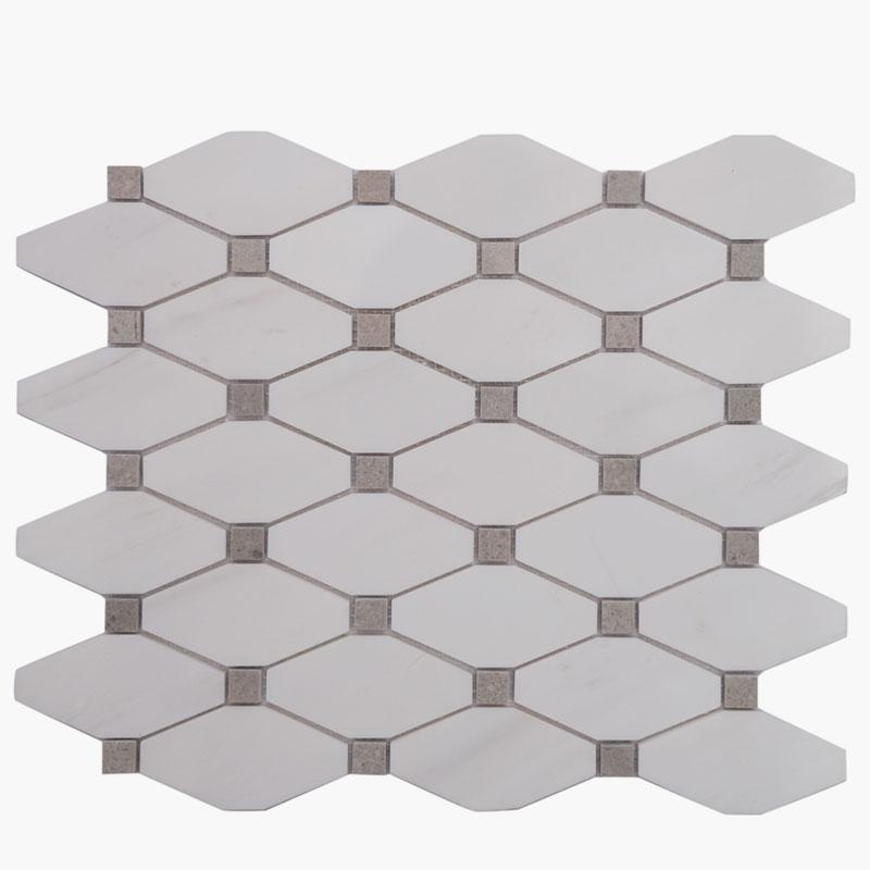 Long Octagon Dolomite w/ Grey Dot