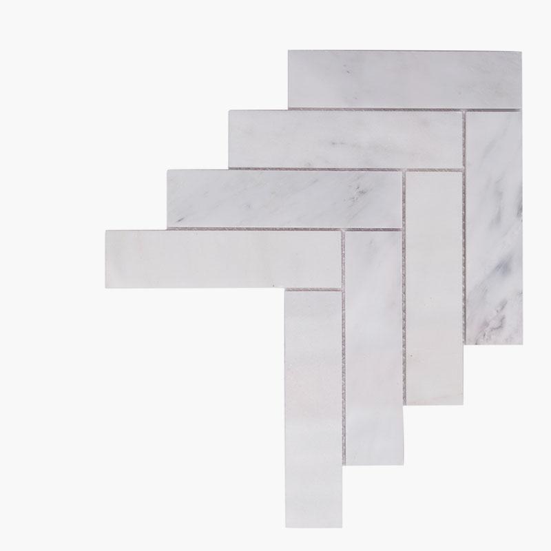 2×8 Herringbone O White