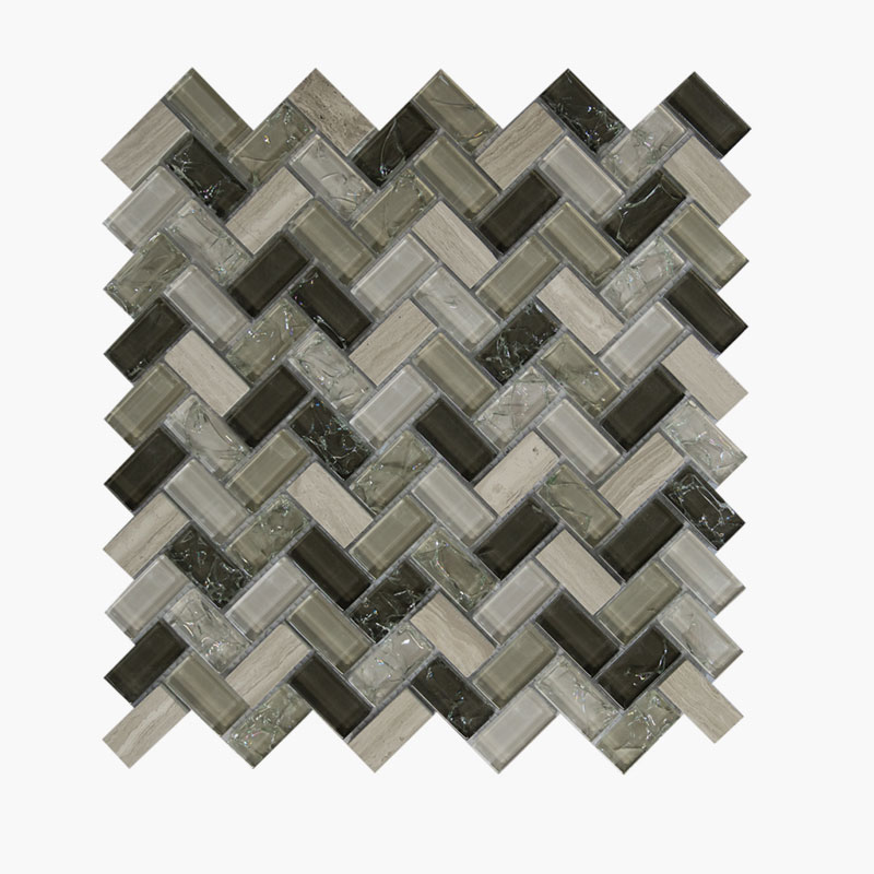 Large Herringbone Taupe