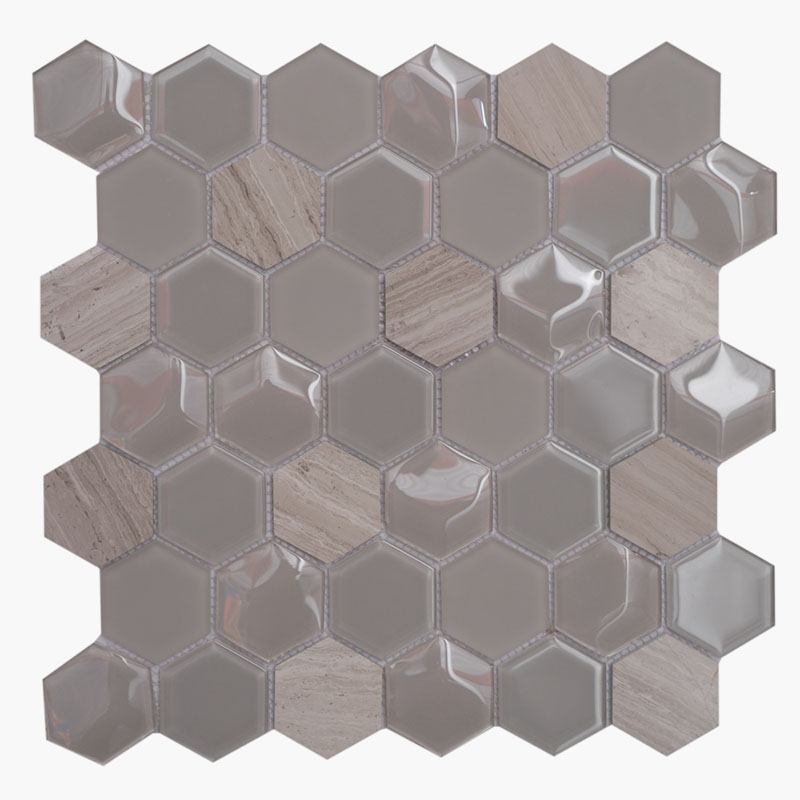 2″ Hexagon Smokey Grey