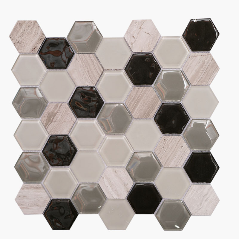 2″ Hexagon Taupe